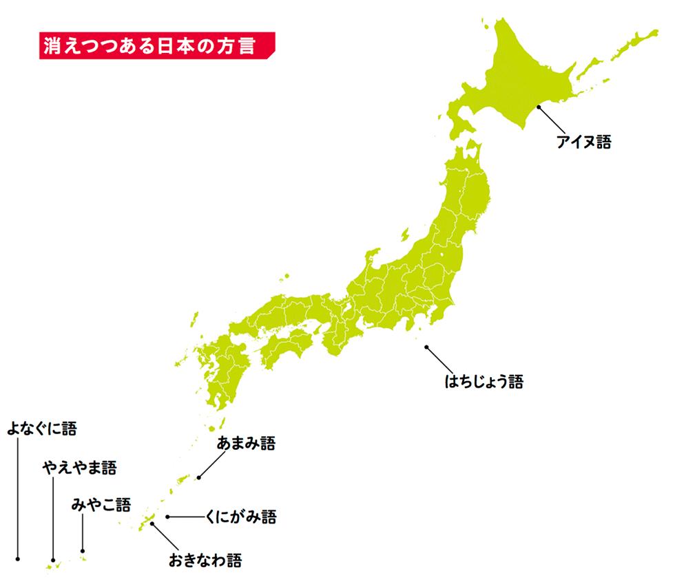 消えつつある日本の方言