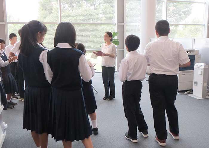 東村山第二中学の生徒さん