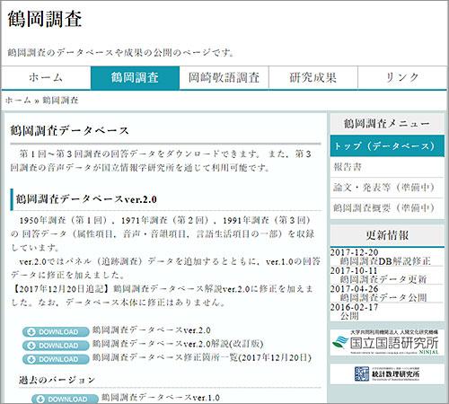 鶴岡調査データベース