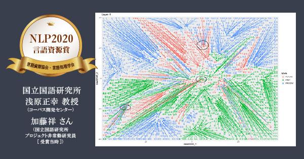 BERTed-BCCWJ 言語資源協会・言語処理学会「NLP2020 言語資源賞」受賞(浅原正幸 教授・加藤祥 さん)