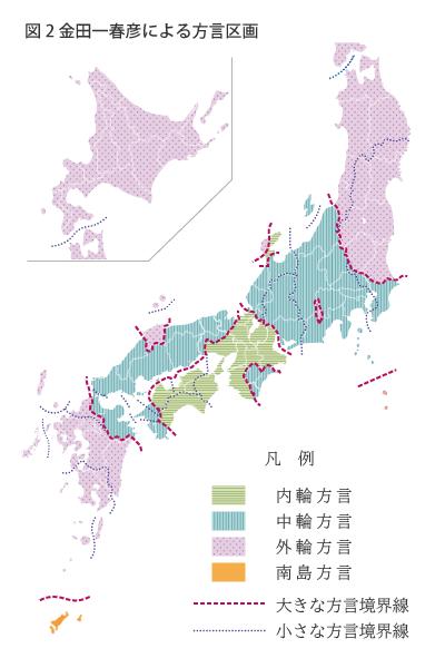 図2 金田一春彦による方言区画